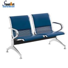 Chaise d'attente en acier de zone publique de bureau d'aéroport de 4 places de haute qualité
