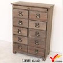Inicio Gabinete de almacenamiento de madera maciza Vintage