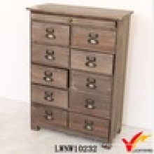 Home Solid Wood Craft Vintage Storage Cabinet