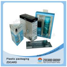 Venda quente suave vinco PVC embalagem de plástico caixa de dobramento