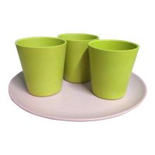 Eco bambú copas de café de fibra