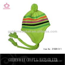 Patrón de punto libre para el sombrero Earflaps tejido de punto invierno caliente fábrica profesional