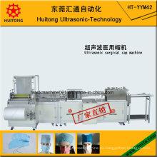 Máquina de fabricación de gorro quirúrgico médico ultrasónico