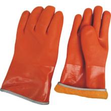 Полностью акрил Подкладка оранжевая зима ПВХ работы перчатки (5126)