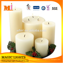 100% парафин материал и форма Штендера белые свечи столба