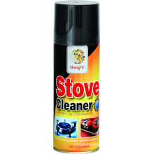 stove cleaner from which the power of alkali and orange removes a blot