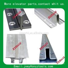 Rail de guidage de l'ascenseur rail de guidage de type T / Type de pièces d'ascenseur Rails de guidage d'ascenseur à traction froide / T70 / B