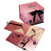 Caja de papel con mango para embalaje y envío