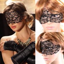 Máscara de alta qualidade do sexo do Dia das Bruxas da tela do laço