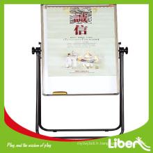 École d'approvisionnement réversible pliant panneau d'écriture blanc parabole émaillé tableau blanc LE.HB.011 Assurance de la qualité