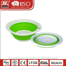 plastic folding colander w/handle
