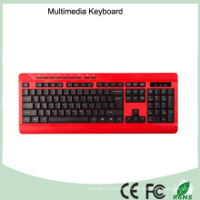 Diseño ergonómico barato impermeable teclado de computadora de oficina con cable (KB-1802M)