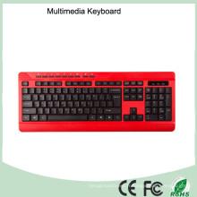 Clavier d'ordinateur à bureau câblé imperméable à l'eau ergonomique à bas prix (KB-1802M)