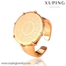 12479 Xuping estilo más nuevo sin piedra 18k anillos chapados en oro