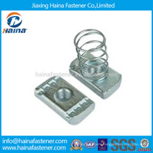 China Suppliers Zinc Plated Square Channel Spring Nut m8 m10