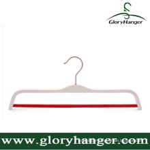 Hight Quality White Plywood Clothes Hanger with Anti Skid Round Bar