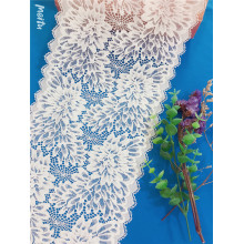 Wave edge elastic chantilly broad lace trims