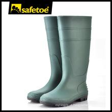 Bota de goma verde, bota de goma moda, bota de goma de segurança O2 com certificado CE W-6036G
