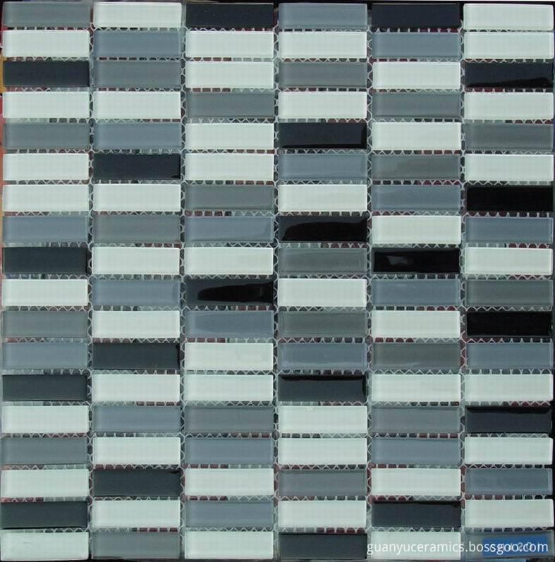 Rectangle Single Crystal Glass Mosaic