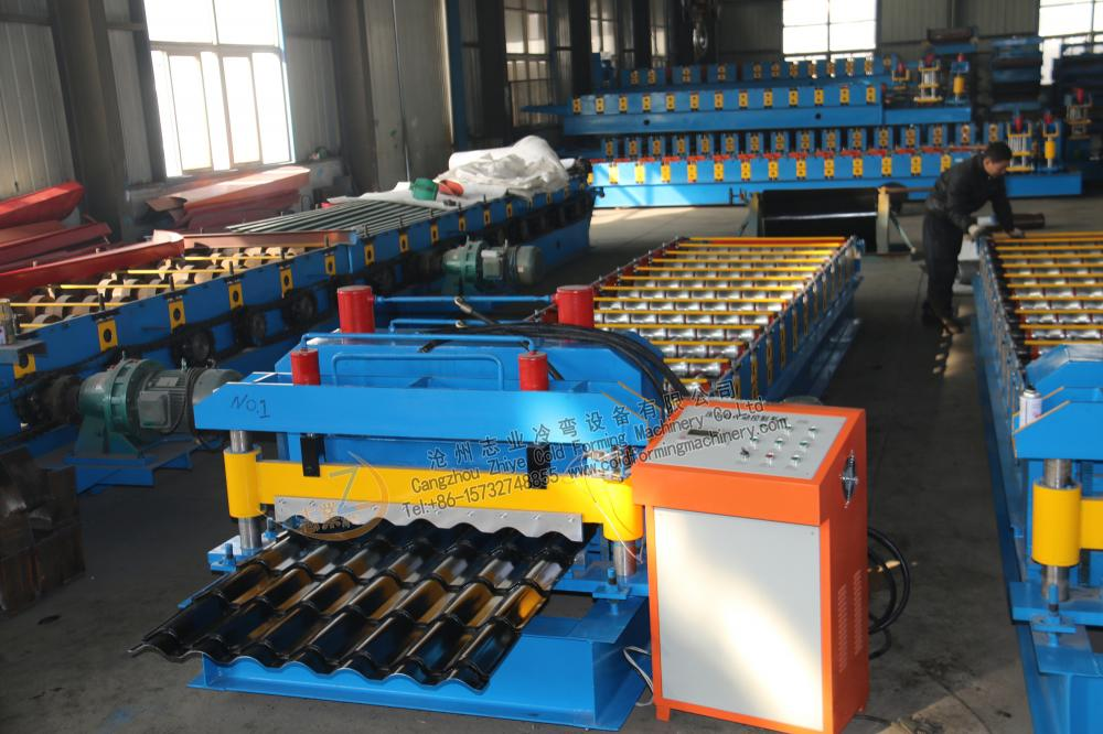 CNC Roll Forming Aluminium Glazed Roof Sheet Machine