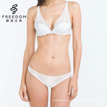 Sexy beautiful new design transparent flower lace deep plunge lightly lined 38 size bra