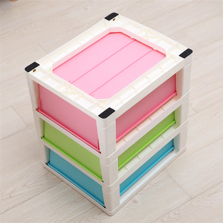 Three Tier Storage Boxes Cabinet