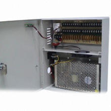 18-channel Power Supply Box, 12V/10A, for CCTV Camera, Built-in fan
