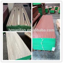 projetos principais da porta da madeira do teak / folheado de madeira projetado do reconhecimento / folheado cortado da cara do corte