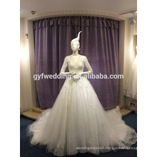 Wedding dress 2017 spring new Korean Slim was thin long-sleeved wedding lace long tail the court LJ-20029