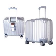 Haute qualité Hardshell Carry on Boarding Bagage 18 pouces Business Bag avec porte-gobelet