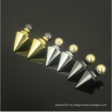 Pendientes de perlas de perlas de acero inoxidable Pendientes de perlas de oro de joyas de moda (hdx1145)