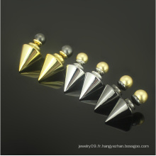 Boucles d'oreilles en perles de perles en acier inoxydable Bijoux en or Boucles d'oreilles en or (hdx1145)