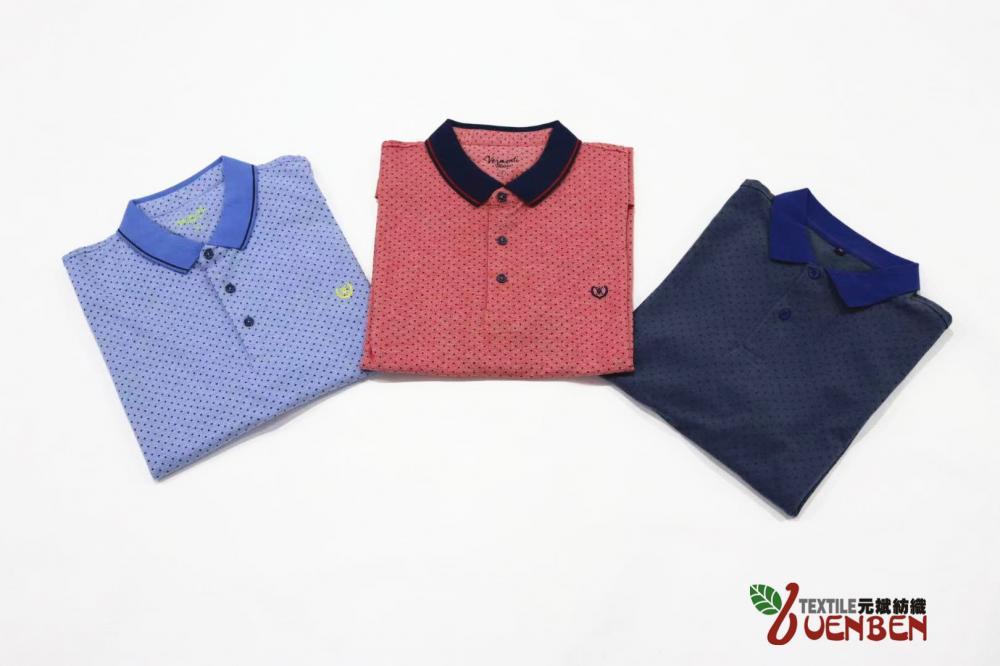 Men's Jersey Printed Oxford Collar Shirt