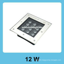 square 12W high power led underground light