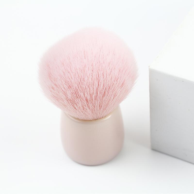 pink powder brush