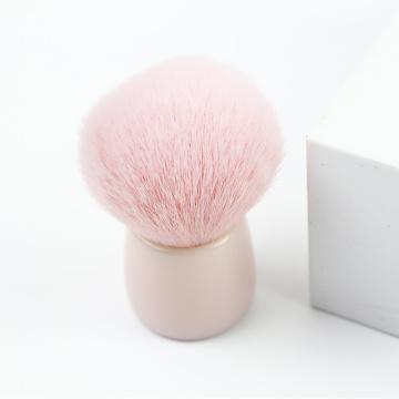 Pincel cor de rosa kakubi e pincel de blush
