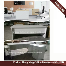 (HX-5N048) White Color L Shape Office Desk Melamine Office Furniture