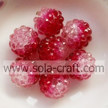 ODM for Candy Beads Artificial Semi-colored Crackle Berry Rhinestone Beads for Ornament Jewelry, Necklace and Bracelet supply to Equatorial Guinea Supplier
