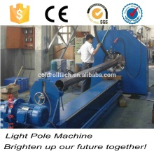 14m Street telegraph electric wire pole production line for utility