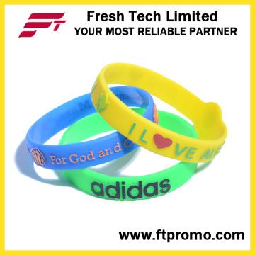 Силиконовый браслет OEM Promotion Красочный силиконовый браслет