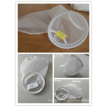 Nylon Mesh Liquid Filter Bag with Drawstring / Stainless Steel / Plastic Ring