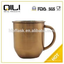 Кружка чая 450 мл цвет окрашены из нержавеющей стали с ручкой