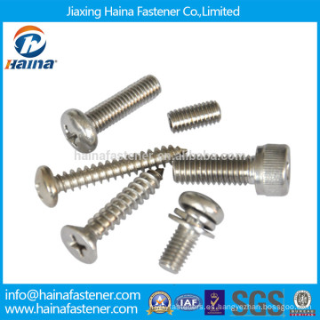 Tornillos de la máquina del acero inoxidable, tornillo que perfora del uno mismo, tornillo de máquina del tornillo de máquina del surtidor de China