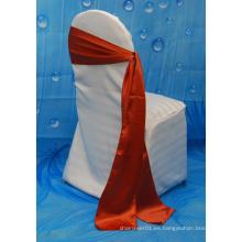 Venta caliente cinta de sash satinado para la cubierta de la silla