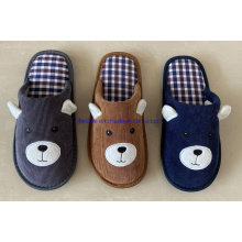 2021 Wholesale Newest Insole Outsole Cloth Fabric Junior Kids Indoor House Bedroom Slippers