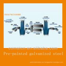 Bobina de acero galvanizado pre-pintado de China, DC51D + Z