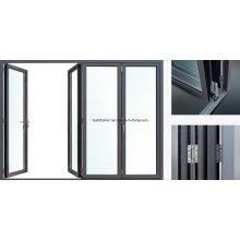 2017 Nouveau système révolutionnaire Foldback Aluminium Bifolding Doors