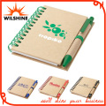 Eco Friendly Paper Mini Notebook with Recycled Paper Pen (PNB012)
