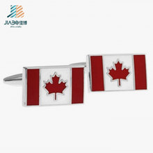 Custom China Supplier Canada Flag Metal Cufflink for Men′s Shirt