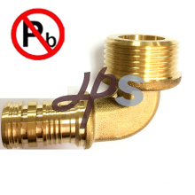 hot forging Low lead brass straight male thread pex fitting manufacturer